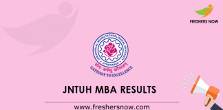 JNTUH MBA Results