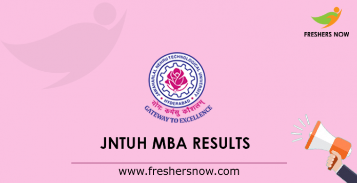 JNTUH MBA Results 2019 Out - (R17, R15, R13) Regular/ Supply
