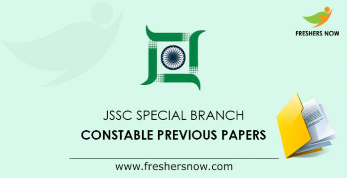 JSSC Special Branch Constable Previous Papers