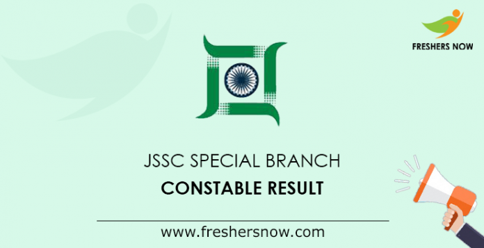 JSSC Special Branch Constable Result