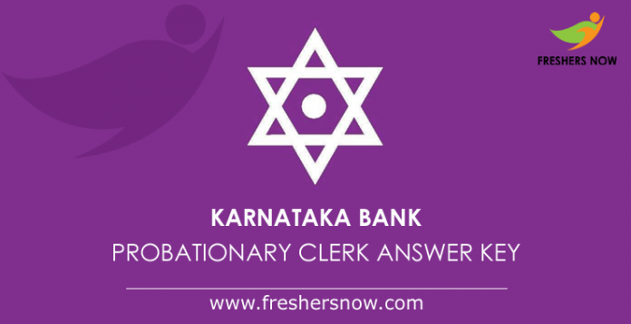 Karnataka Bank Probationary Clerk Answer Key