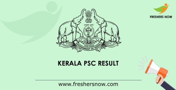 Kerala PSC Police Constable Driver, Driver Cum Office Attendant Result