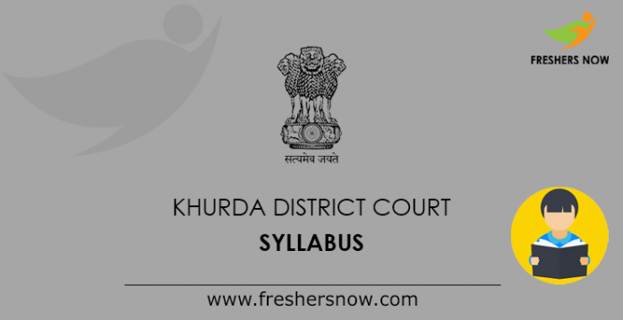 Khurda District Court Syllabus