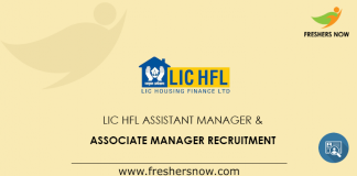 LIC HFL Assistant Manager Recruitment