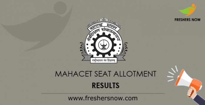MAHACET Seat Allotment Results
