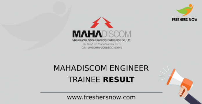 MAHADISCOM Engineer Trainee Result