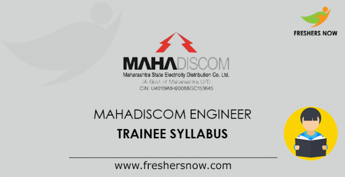 MAHADISCOM Graduate, Diploma Engineer Trainee Syllabus 2019 PDF