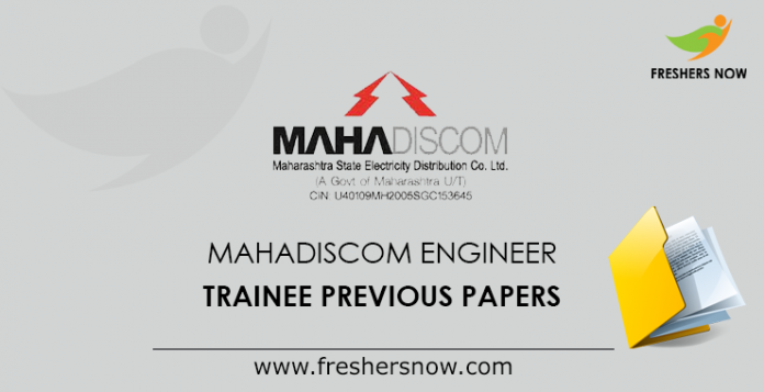 MAHADISCOM Engineer Trainee Previous Papers