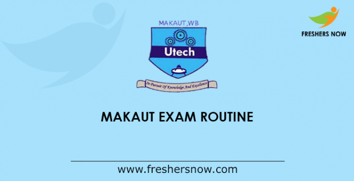 MAKAUT Exam Routine