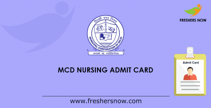MCD Nursing Admit Card