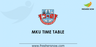 MKU Time Table