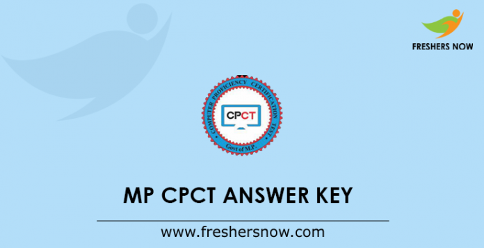 MP CPCT Answer Key 2019