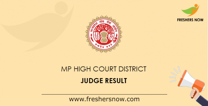 MP High Court District Judge Prelims Result