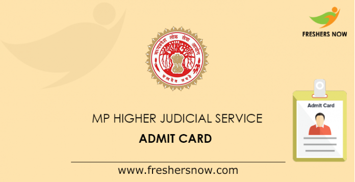 MP Higher Judicial Service Admit Card