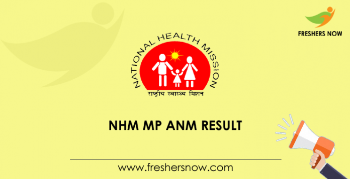 NHM MP ANM, Staff Nurse Result