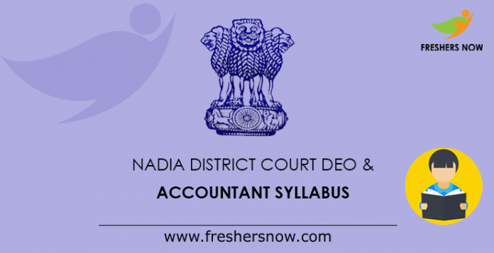 Nadia District Court DEO & Accountant Syllabus
