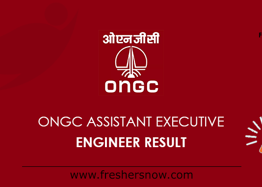 ONGC Assistant Executive Engineer Result