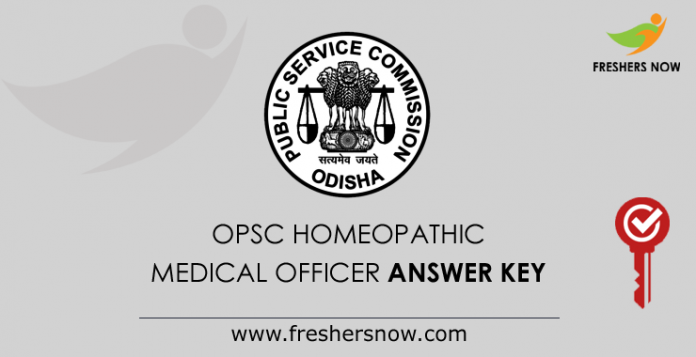 OPSC Homeopathic Medical Officer Answer Key 2019