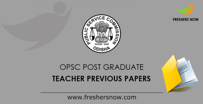 OPSC Post Graduate Teacher Previous Papers