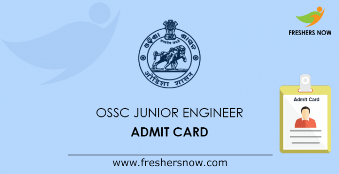 OSSC Junior Engineer Mains Admit Card