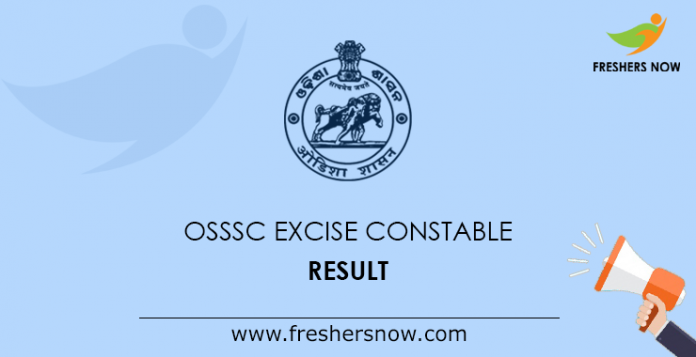 OSSSC Excise Constable Result