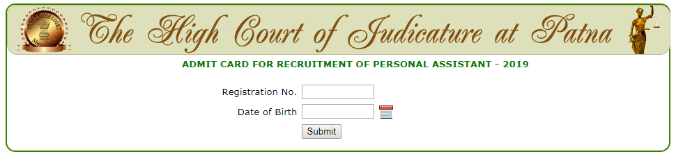 PHC Admit Card Login Page