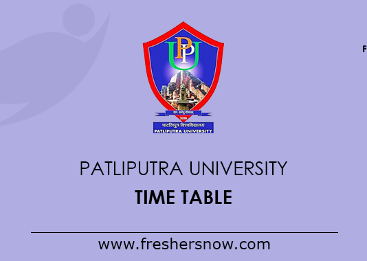 Patliputra University Time Table