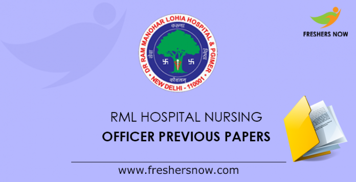RML Hospital Nursing Officer Previous Papers