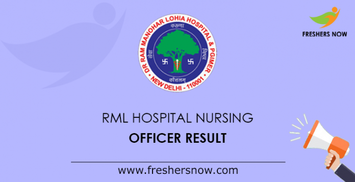 RML Hospital Nursing Officer Result