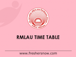RMLAU Time Table