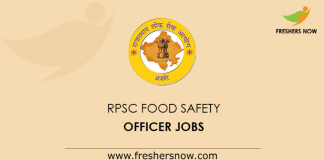 RPSC Food Safety Officer Jobs