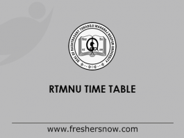RTMNU Time Table