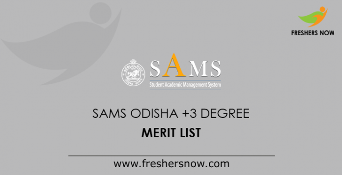 SAMS Odisha +3 Degree Merit List
