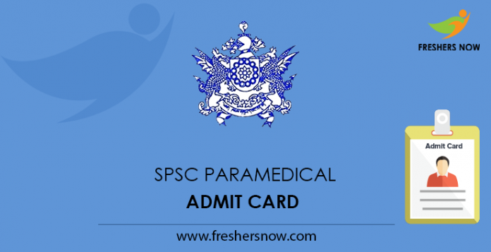 SPSC Paramedical Admit Card