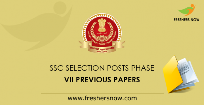 SSC Selection Posts Phase VII Previous Question Papers PDF Download