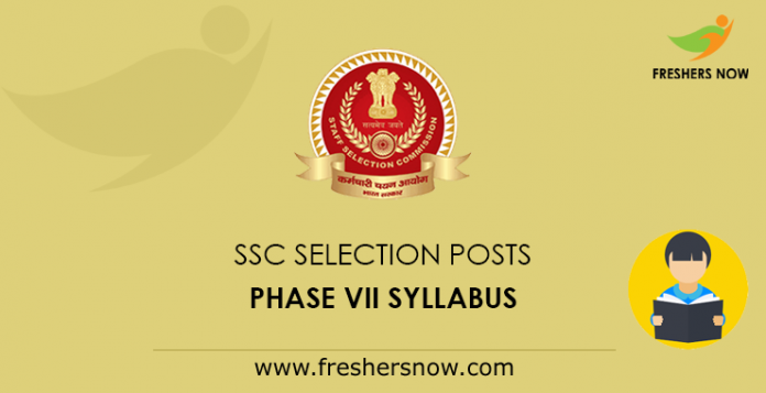 SSC Selection Posts Syllabus 2019