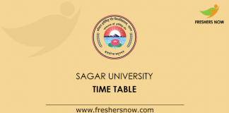 Sagar University Time Table