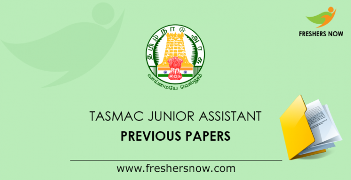 TASMAC Junior Assistant Previous Papers