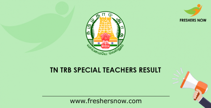TN TRB Result for Special Teachers