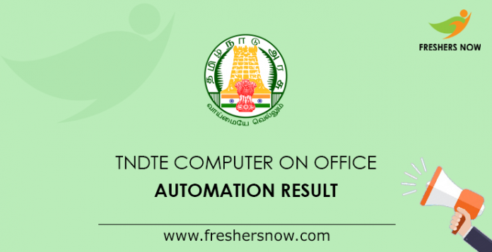 TNDTE Computer on Office Automation Result