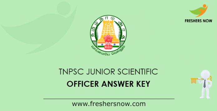 TNPSC Junior Scientific Officer Answer Key