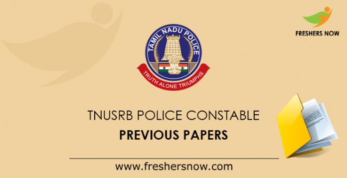TNUSRB Police Constable Previous Papers