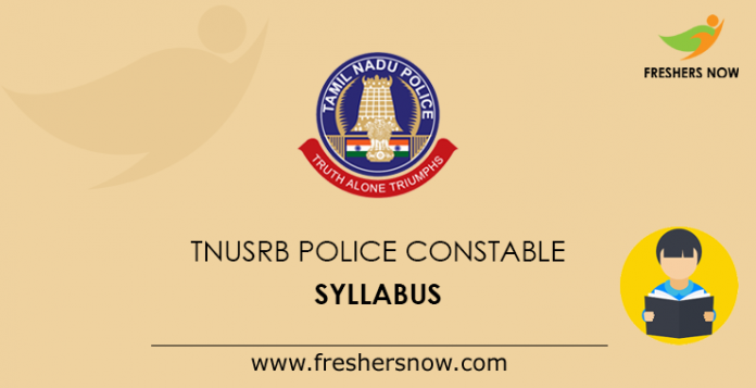 TNUSRB Police Constable Syllabus