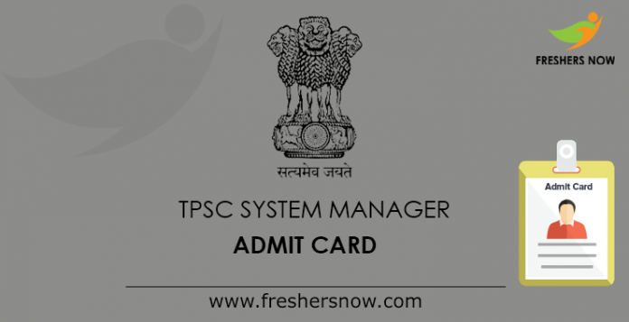 TPSC System Manager Admit Card