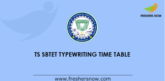 TS SBTET Time Table