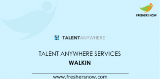 Talent Anywhere Services Walkin