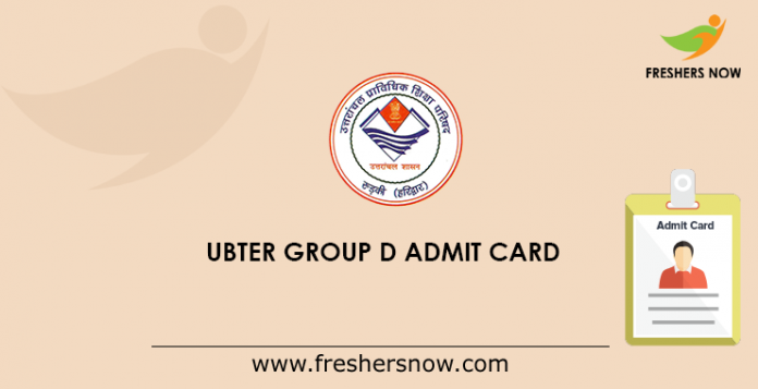 UBTER Group D Admit Card