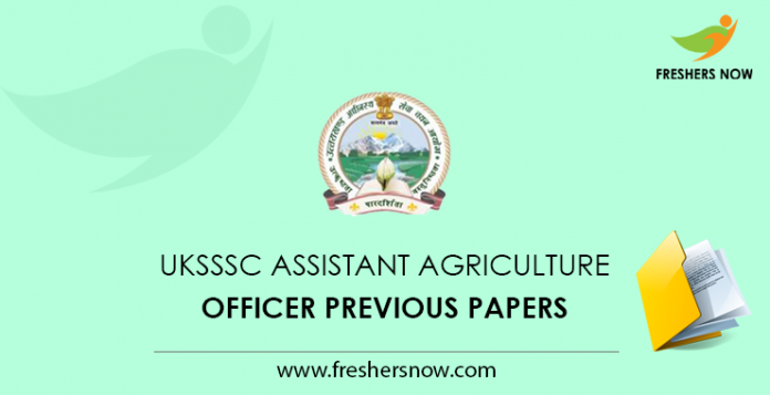 UKSSSC Assistant Agriculture Officer Previous Papers