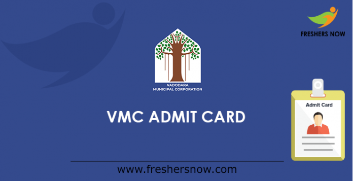 VMC Dy. Executive & Addl. Assistant Engineer Admit Card