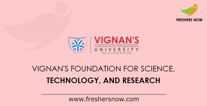 Vignan's Foundation for Science, Technology, and Research